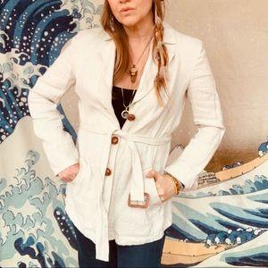 Lafayette 148 linen belted jacket size M